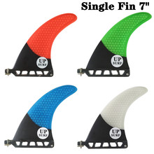 UP-Surf 7 inch Fin Fibreglass Surfboard length Green/Red/White/Blue color in Surfing Longboard Fins