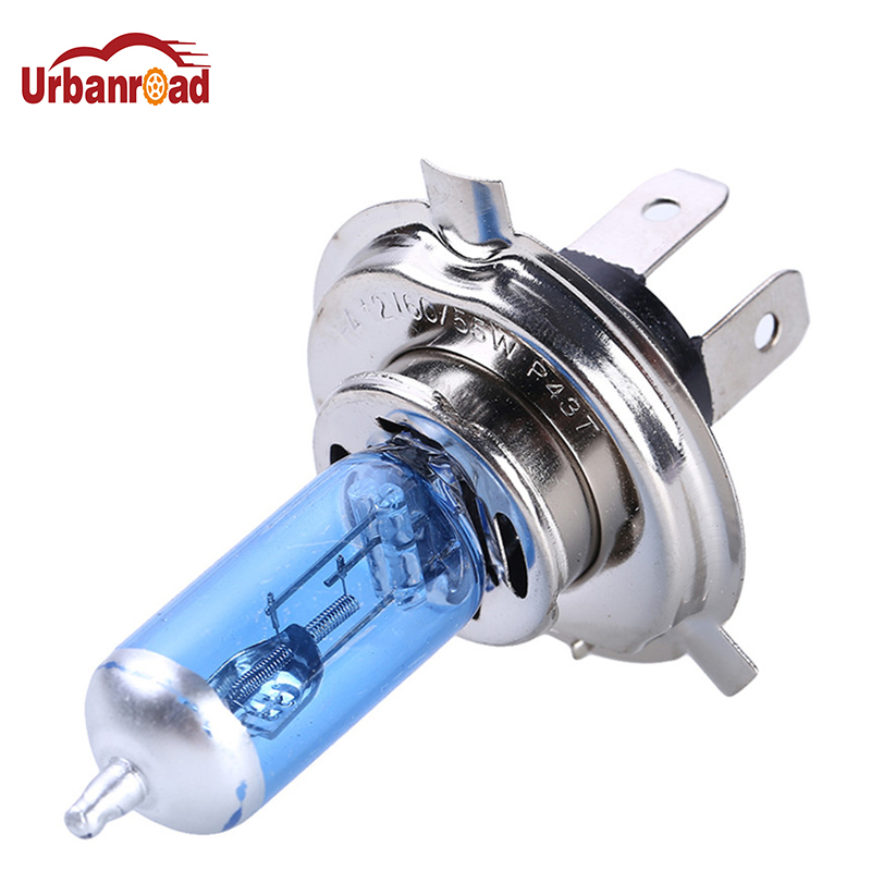 Urbanroad 2PCS <font><b>H4</b></font> <font><b>60</b></font>/<font><b>55W</b></font> Car Halogen Xenon Light Bulb High Low Beam 12V Super Xenon White 6000K <font><b>H4</b></font> Headlight <font><b>Lamp</b></font> image