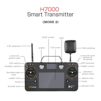 1PC Hubsan FPV RC Transmitter H109S 38 H7000 Remote Controller w/Antenna For Hubsan H109S X4 PRO Quadcopter Drone Acc