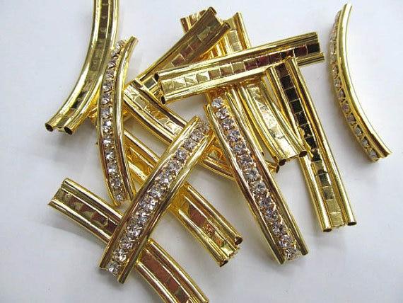high quality 50mmx10mm 50pcs rhinestone metal spacer bar charm jewelry bead--2 holes tungsten metal bead bead rare refractory metal bead w 99 95% 5 grams