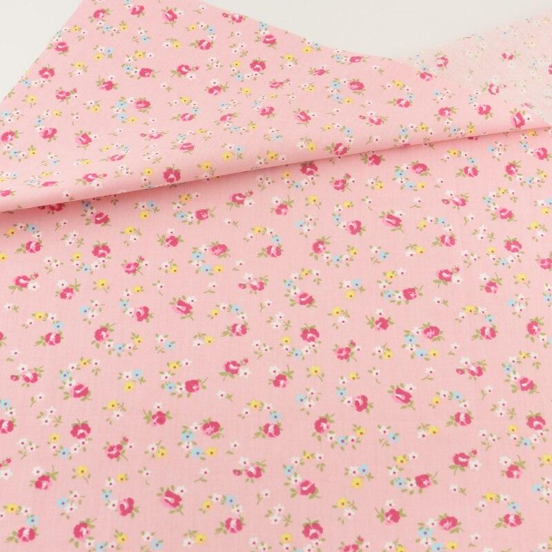 Paño de costura artesanal teramila telas tecido rosa floral tela de algodón que