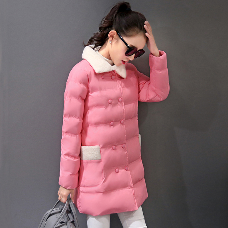 Cultivate one's morality small cotton-padded jacket winter coats girl long winter jacket coat women big yards