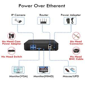 "Image 2 - Hiseeu 4CH 1080P POE NVR CCTV מערכת 2PCS POE 13V CCTV ערכת HDMI P2P דוא""ל מעורר עמיד למים חיצוני מעקב וידאו"