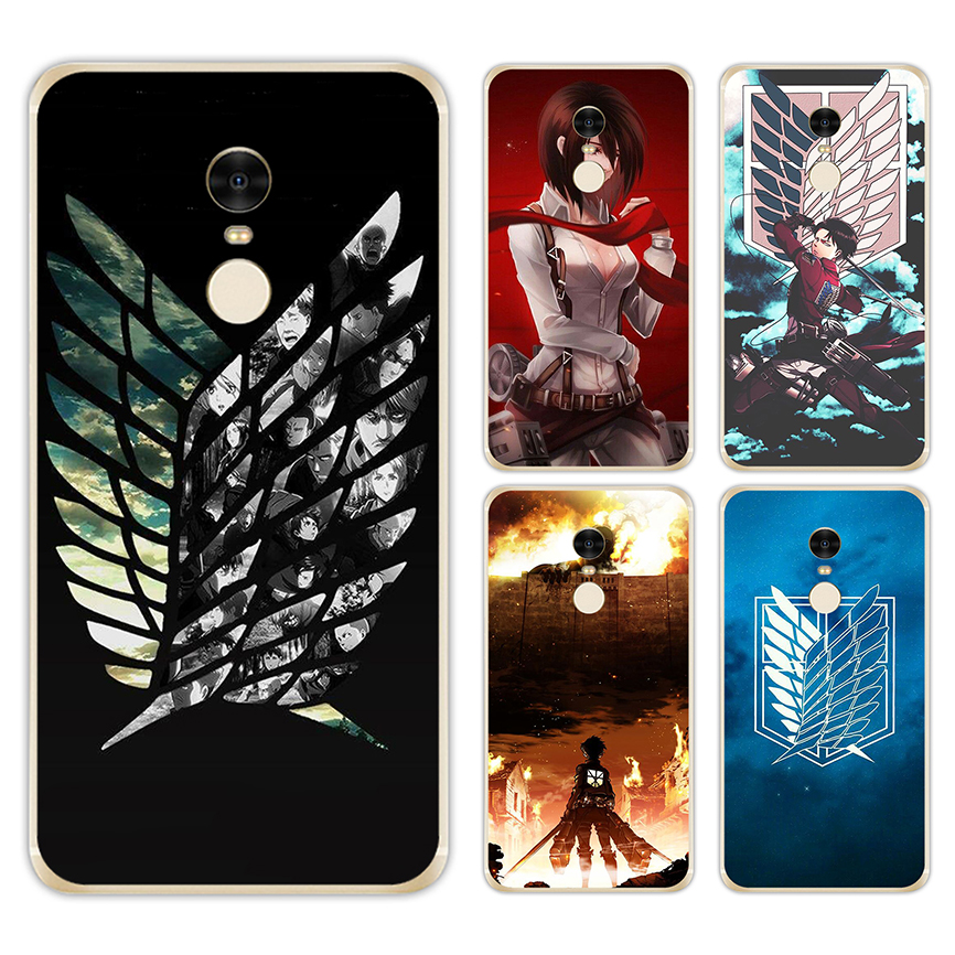 LISM Attack On Titan Anime Hard Case For Xiaomi Mi A1 5X 5S 6 5 Redmi 5A 5 Plus 4X 4A 3S Note 5A Prime 4X 3 Pro