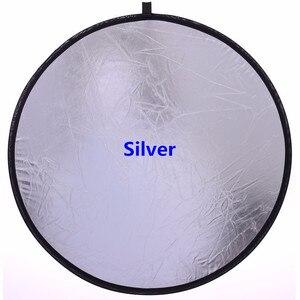 Image 3 - 60 cm/24 reflector 2 2 em 1 portátil dobrável difusor fotografia refletor de disco luz redonda refletor para estúdio foto câmera luz r