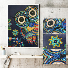 DIY special shape diamond painting 5D part cross stitch kit crystal rhinestone owl embroidery