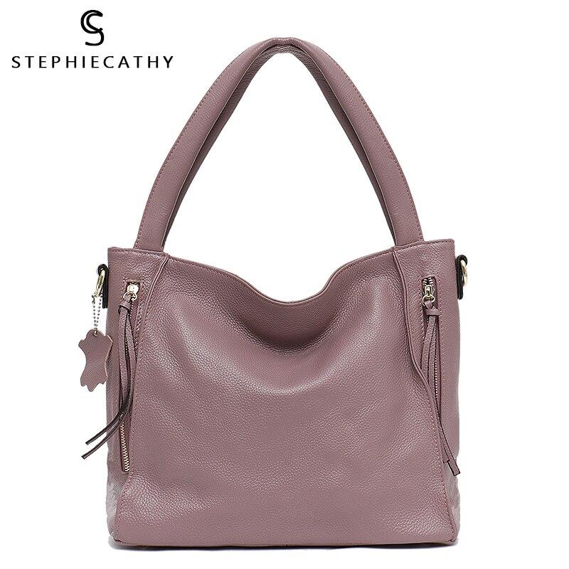 SC mode cuir de vache femmes sacs décontracté travail fourre-tout sac doux épaule Zip poche sacs de haute qualité luxe dames sacs à main quotidiens