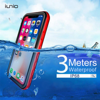 Waterproof Case For IPhone X Luxury Brand Ultra Thin Case For IPhone X Cover 360 Full
