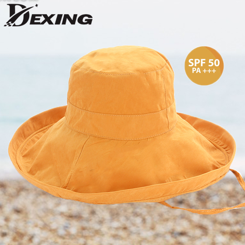 c8dc2fedaa82aa 2019 anti-UV wide Brim sun hat For women vacation summer large brim korean  foldable