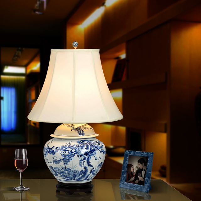 Art chinese porcelain ceramic table lamp bedroom living room wedding art chinese porcelain ceramic table lamp bedroom living room wedding table lamp jingdezhen chinese porcelain table aloadofball Choice Image