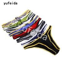 YUFEIDA Wholesale 8pcs/Lot Sexy Men's Fillet Underwear Men Briefs Smooth Underpants Spandex Comfortable Panties Male Briefs