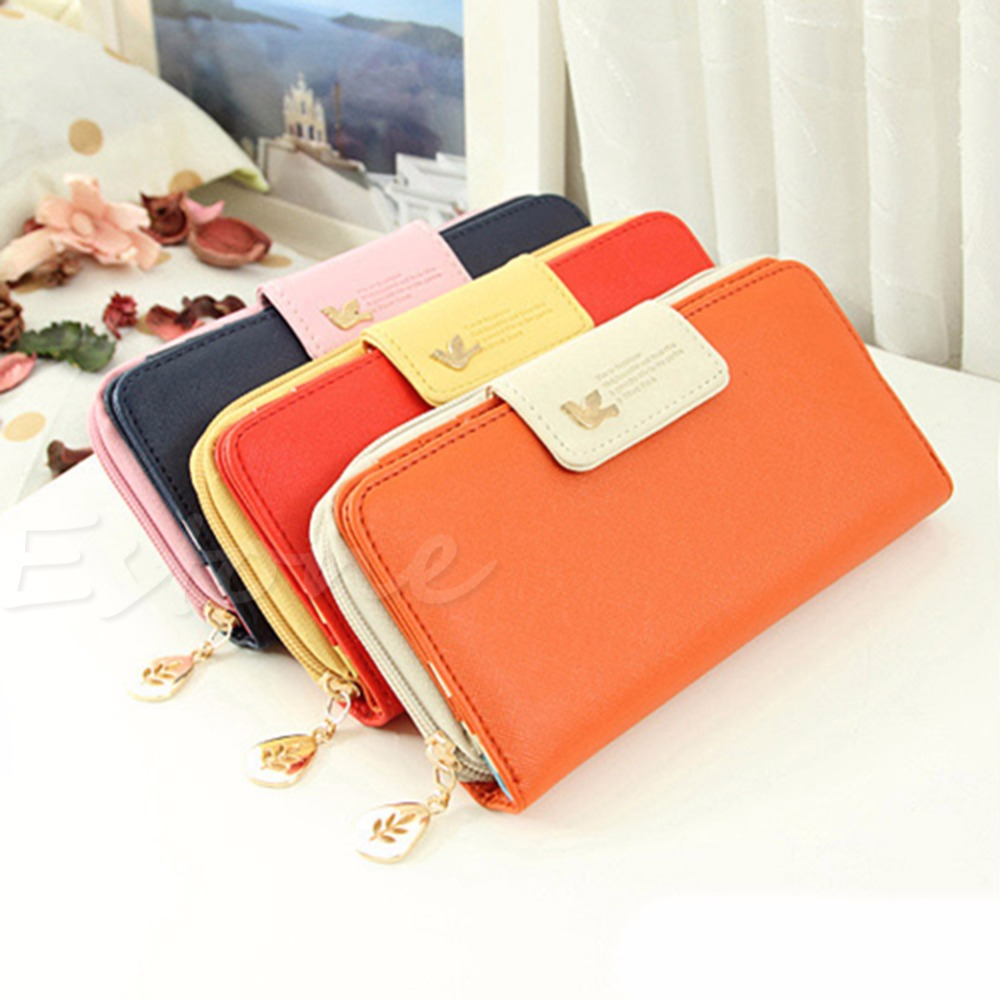 все цены на THINKTHENDO PU Leather Buckle Long Purse Clutch Cute Button Wallet Bag Card Holder Women