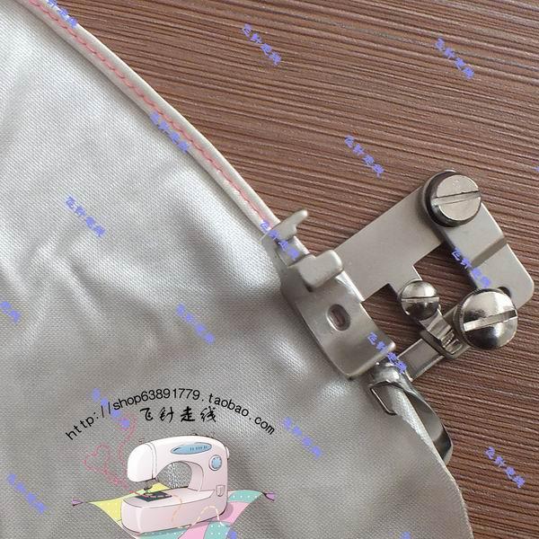 Machine à coudre industrielle liant plat voiture courbe ourlet courbe curling pied-de-biche mousseline de soie matériau mince sertissage pied-de-biche