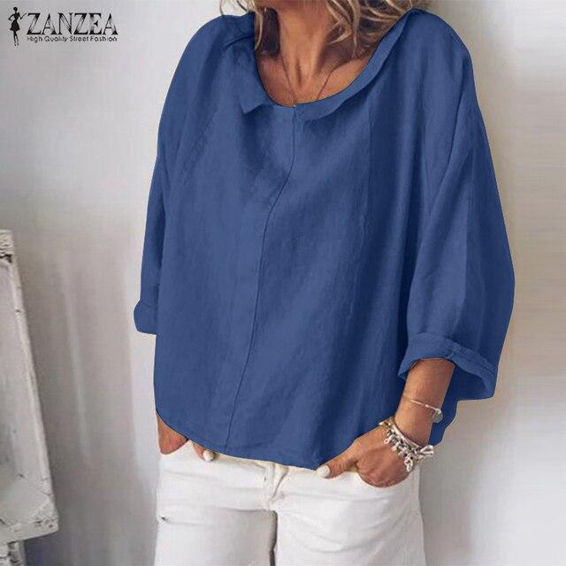 Summer Tunic Vintage Linen Blouse 3