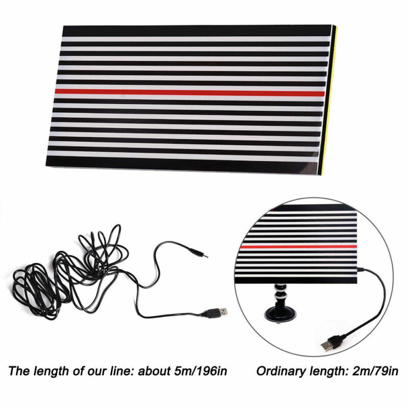 PDR Strip Line Board Paintless Dent Repair Tool Kit PDR Lamp Reflector Board Dent Detector for Car Body Dent Remove