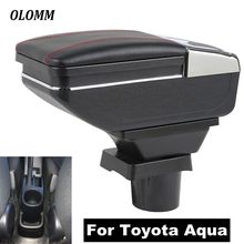 For Toyota Aqua armrest box central Store content box cup holder USB ashtray interior car-styling accessories