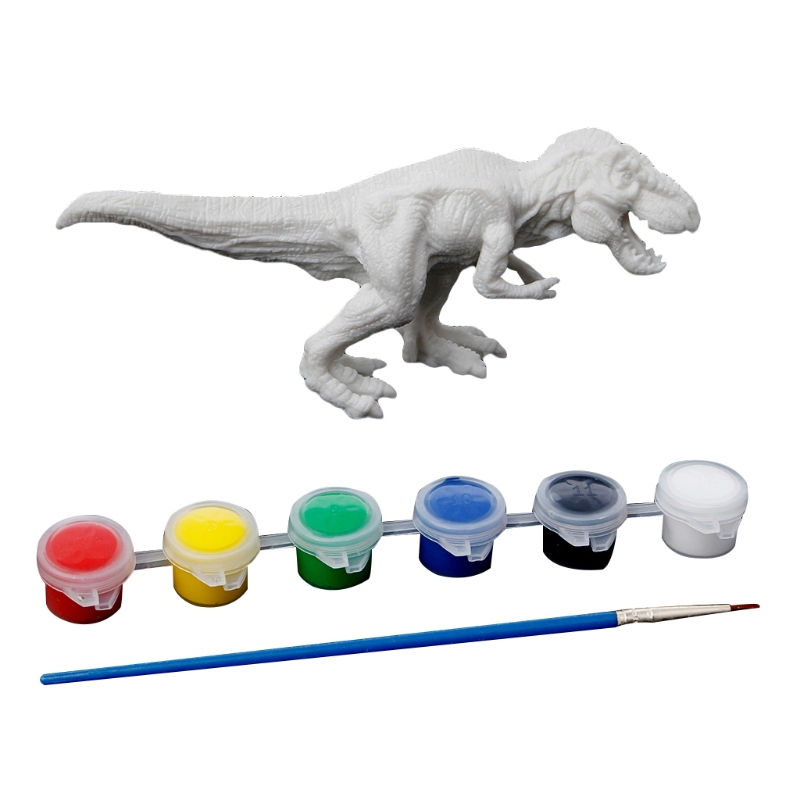 Dinosaur Model Drawing Graffiti Kids Children Toys DIY Coloring Painting Animal