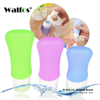 WALFOS food grade Empty Silicone Travel Packing Press Bottle for Lotion Shampoo Bath Container outdoor traveling jar bottle