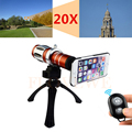 20x Optical Zoom Telephoto Telescope Lens Tripod Holder Phone Camera Lentes For Samsung iPhone 4 4s 5 5s 6 6s 7 Plus With Cases
