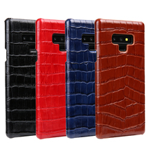Note9 Luxury Genuine Leather Case for Samsung Galaxy Note 9 Case Crocodile Cowhide Pattern Back Cover for Samsung Note 9 Case totem pattern bamboo back case for samsung galaxy note 3 n9000 wood