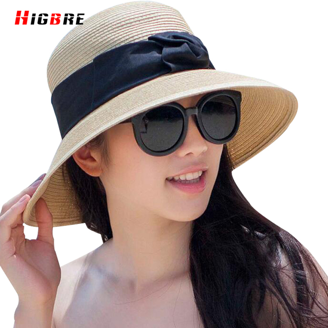 ac8fefac304 New Summer 2016 Ladies Straw Hats For Women Wide Brim Sun Hats UV Protection  Casual Large