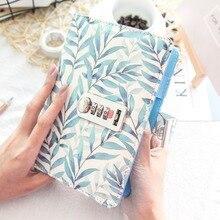 Ramo de folha espiral, anel simples pontilhado diário com fechadura, planejador de joalheria, pontilhado, livro de linha a5