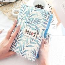 Ramo di foglie di Anello a spirale Notebook Semplice Punteggiato Ogni Giorno con blocco del diario del Viaggiatore Jounery planner linea griglia dots Libro di Bujo a5