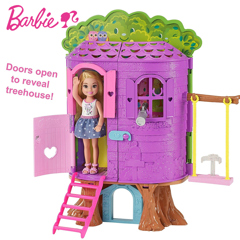 Original Barbie Dolls Princess Kelly Tree House Toy Story House Girl Birthday For Children Gifts Fashion For Girls bonecas in Dolls from Toys Hobbies