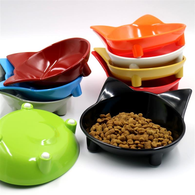 Cat Dog Feeding Bowl Cat Puppy Food Dish Container Pet Puppy Drink Water Bowl Non Slip Black Blue Colors Puppy Food Bowls Water