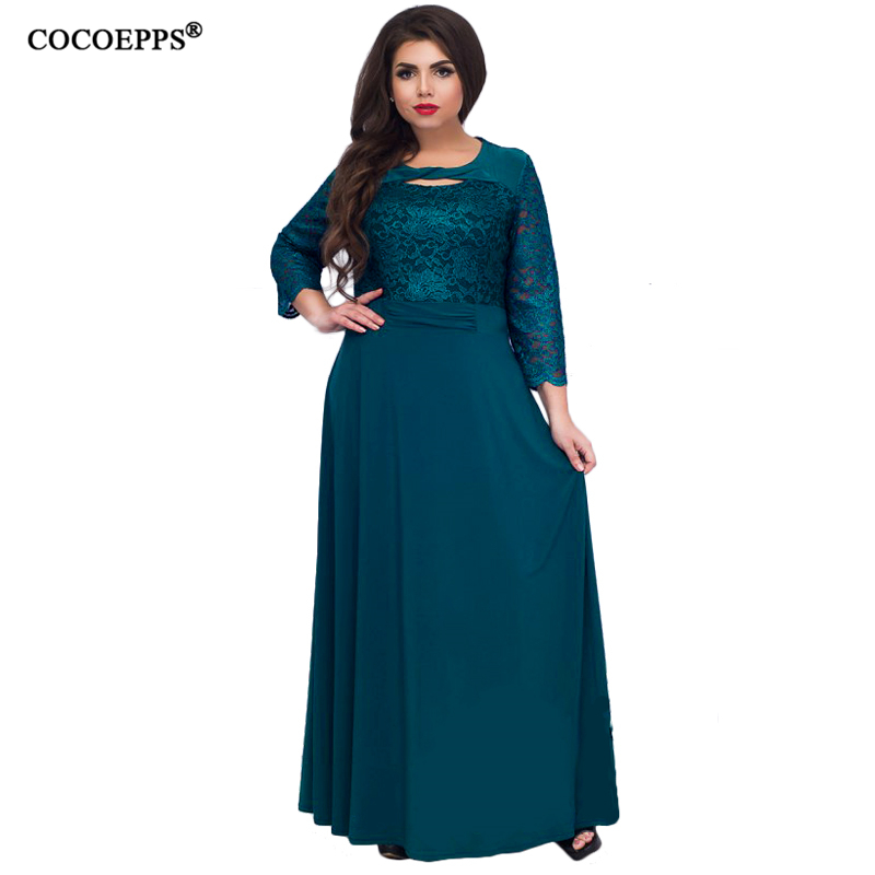 Мода 2019, кружевное женское платье, плюс размер, 5XL 6XL, Элегантное Длинное платье, женское платье большого размера, большие размеры, вечернее п...