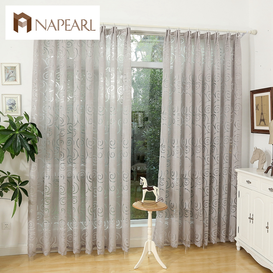 Curtain For Balcony: NAPEARL Fashion Design Modern Curtain Fabric Living Room