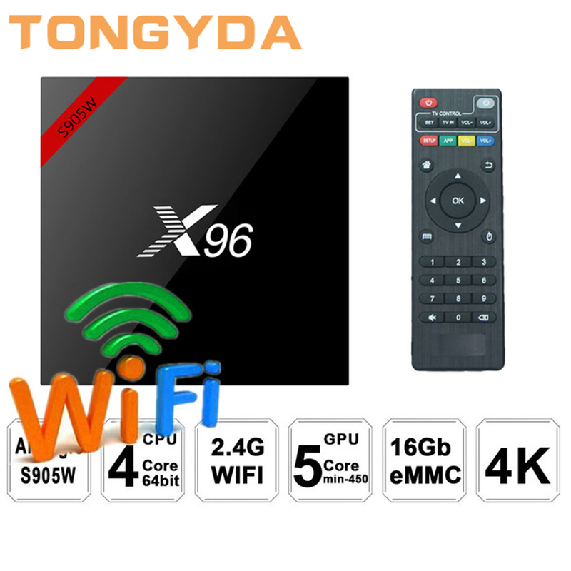 TONGYDA X96 mini TV BOX Android 7.1 OS Smart TV Box 2GB 16GB Amlogic S905W Quad Core 2.4GHz WiFi Set top box 1GB 8GB X96mini цена