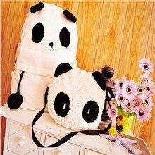 2016 Nouveau Style De Mode Panda Cartable Sac À Dos Épaule Cartable Mignon Sacs D'école Pour Les Adolescents mochila feminina Dropshipping