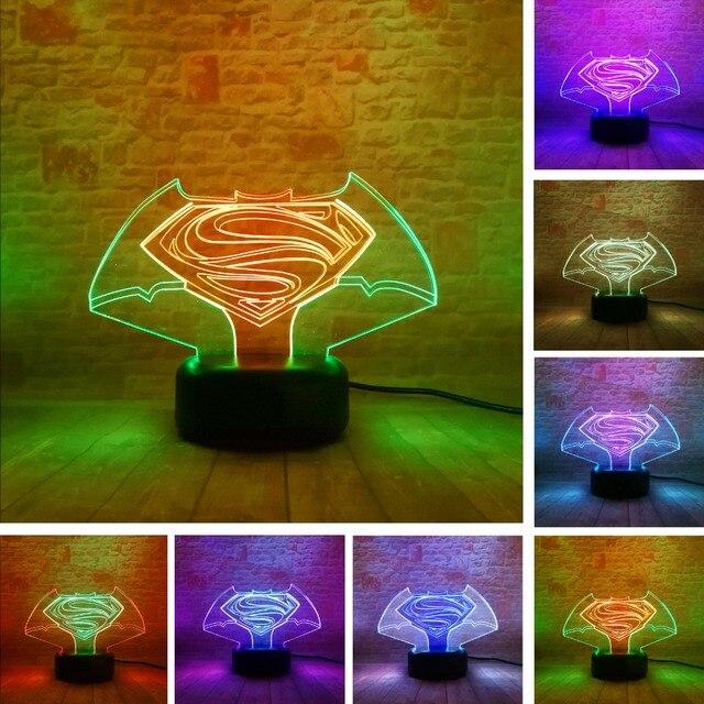 New Colorful Visual Superman Vs Batman Symbol Touch Gradient