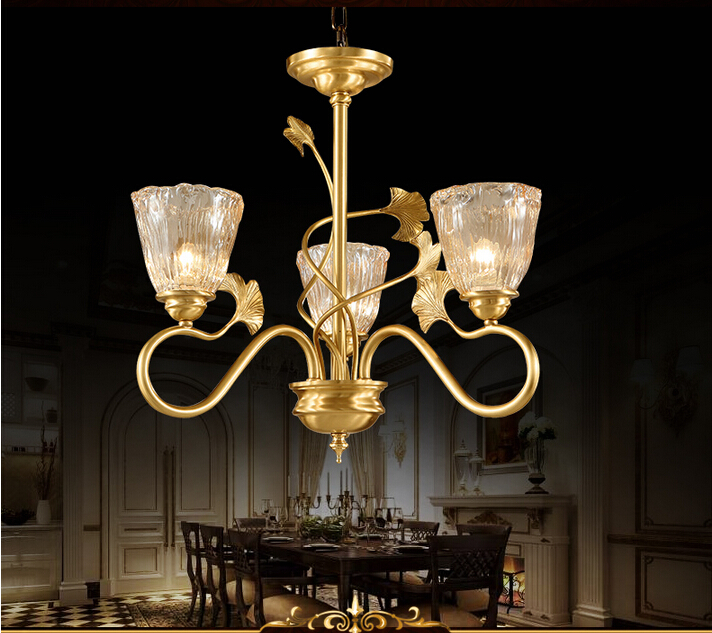 Newly Bronze Finished Antique Crystal Chandelier Lingting Luxurious Brass Crystal Lamp Lustre Suspension Light Free Shipping
