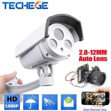 Techege 1080P Outdoor Bullet IP Camera HD 2.0MP IP camera wide dynamic CMOS 2.8-12mm AUTO zoom lens Onvif P2P Waterproof