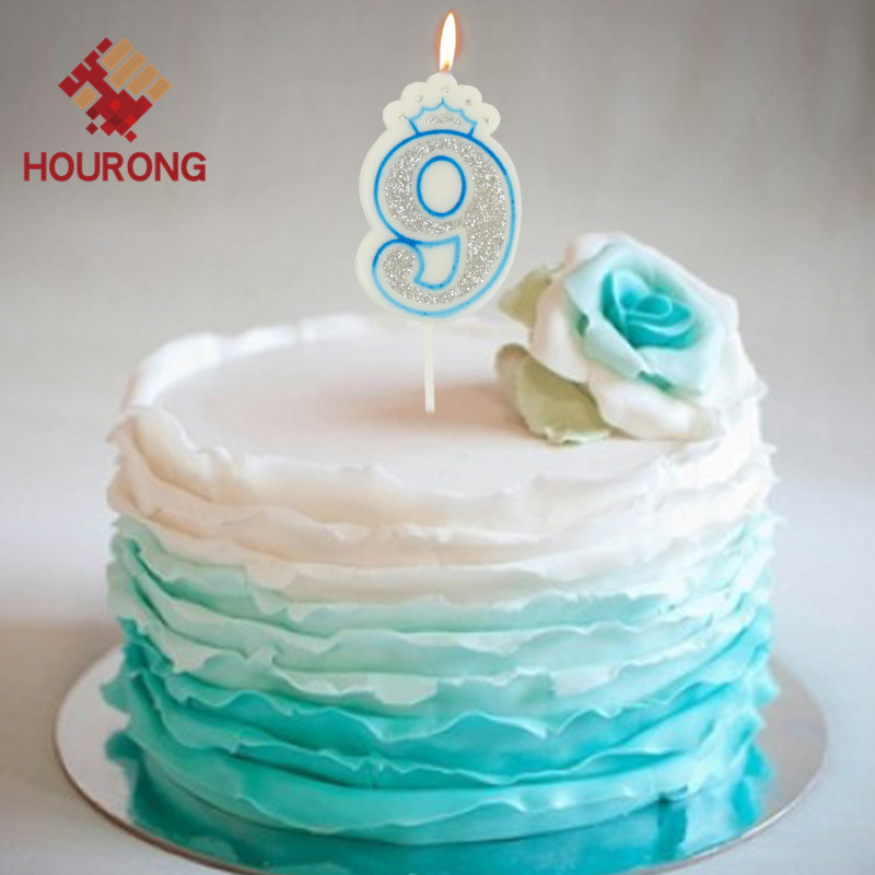Astonishing Creative Lucky Crown Pattern Birthday Cake Candles Of Number 0 9 Funny Birthday Cards Online Alyptdamsfinfo