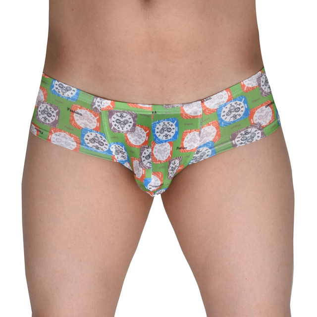 b5dd5fdae72f Micro Boxers Men's Print Bikini Boxer Male Underwear Cheeky Boxers Big Cut  Boxers