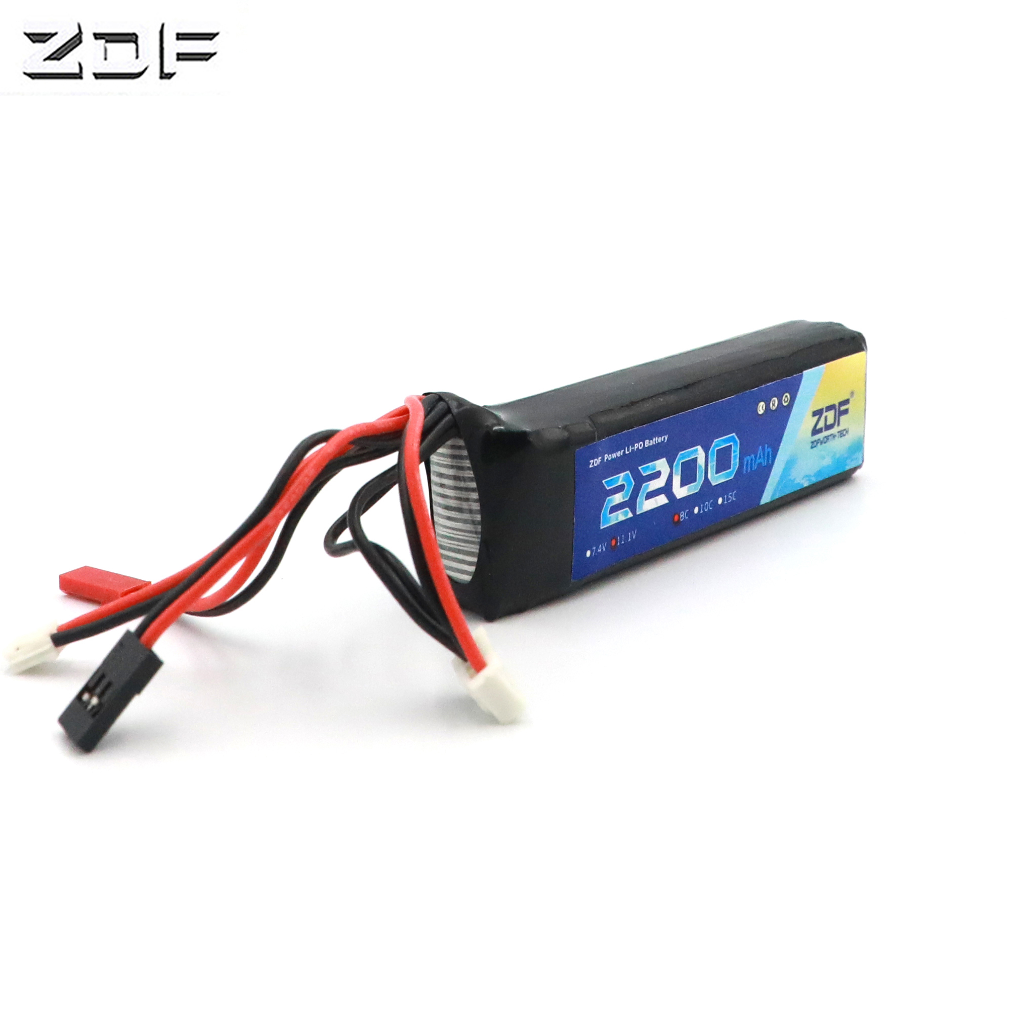ZDF <font><b>3S</b></font> <font><b>Lipo</b></font> Battery 11.1V <font><b>2200mAh</b></font> 8C RC Parts JST SM 2Pin 4Pin AKKU <font><b>Bateria</b></font> For RC Transmitter Receiver Rechargeable Accessories image
