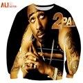 Alisister 3d Character Sweatshirts Tupac Shakur 2Pac Sweatshirt Men/women Harajuku Hoodies Funny Tracksuit Colegial Clothing