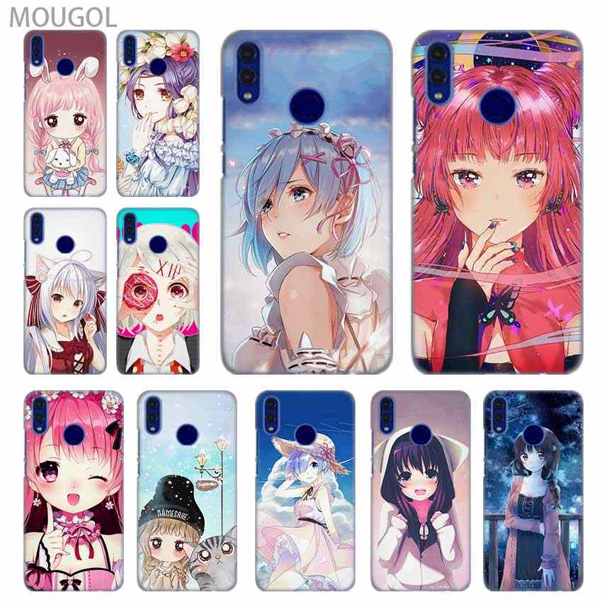 SHELI phone shell case cover for Huawei Honor 4C 5X 6 6X 6C 7 7X 7C 7a Pro 8 8X 9 10i Lite 8a Cartoon Anime Kawaii girl