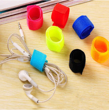 50pcs Colorful Cable Winder Wire Organizer Cable Earphone Holder Cord Management Protector for iPhone Samsung Huawei цена и фото