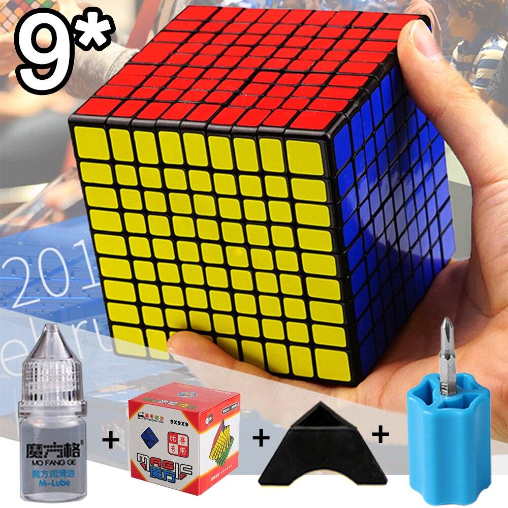 Nouveau 9x9x9 9.2 CM vitesse Cube magique 5 costume ensemble Puzzle professionnel néo Cubo Magico autocollant jouets pour enfants adulte éducation jouet