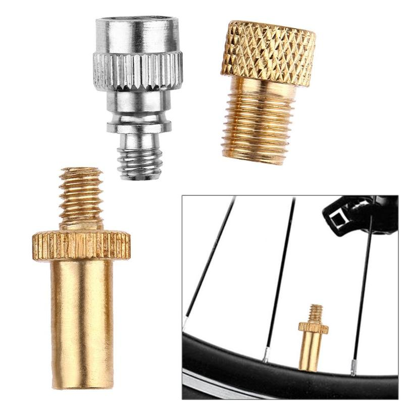 3pcs/set Bike Bicycle Presta To Schrader Valve Adapters+ Presta Valve Extension Pump Tools For Mountain Bike Valve Adaptor Z95