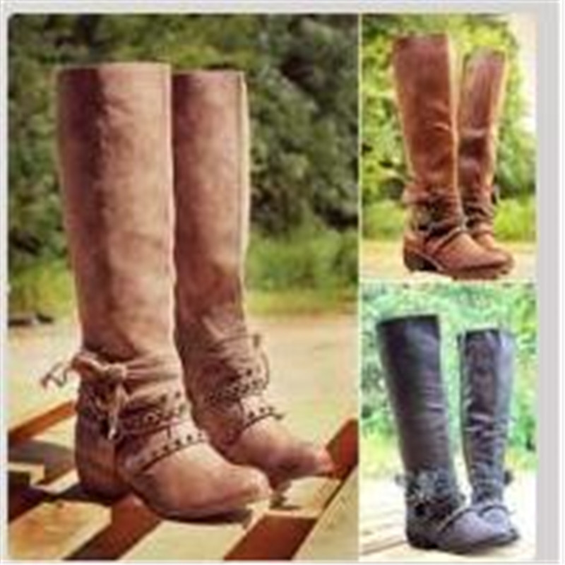 XingDeng-Lady-High-Top-Long-Rivets-Zip-Cowboy-Western-Square-Heels-Boots-Shoes-Design-European-Chain (3)