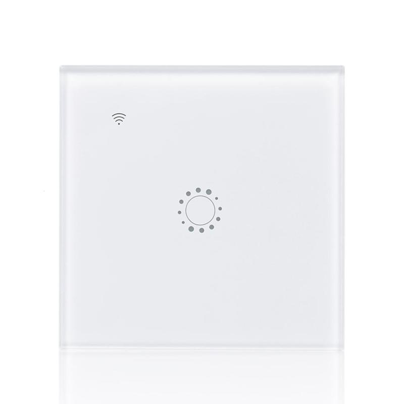 QIACHIP Wireless 2.4G WiFi Smart Switch 2 Gang Light Wall Switch APP Remote Control Work with Amazon Alexa Google Home Smart Z2