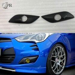 Dla Hyundai Veloster NAV styl FRP włókna szklanego przedni przeciwmgielne pokrywa (bez Turbo) z włókna szklanego zderzak światła przeciwmgielne pokrywa dla Veloster Tuning części|Zderzaki|Samochody i motocykle -