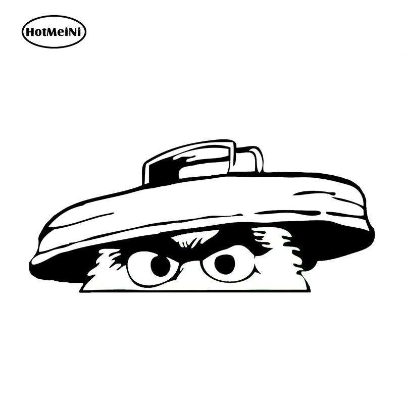 HotMeiNi 18cm Oscar The Grouch Car Sticker Funny