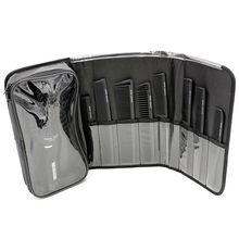 """Pro Hairdressing Curved Brush"" karščiui atsparus šerių, apvalus šepetys 8 vnt. Barber Hair Comb Set ""Storage Bag"" salonui ""Styling Tools Kit"""