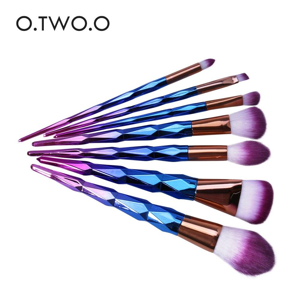 O.TWO.O 7pcs/lot Colorful Makeup Brushes Set Synthetic Cosmetic Powder Brush Blush Blusher Eyeshower Eyeliner Eyebrow Brush Set artdeco blusher 07 цвет 07 salmon blush